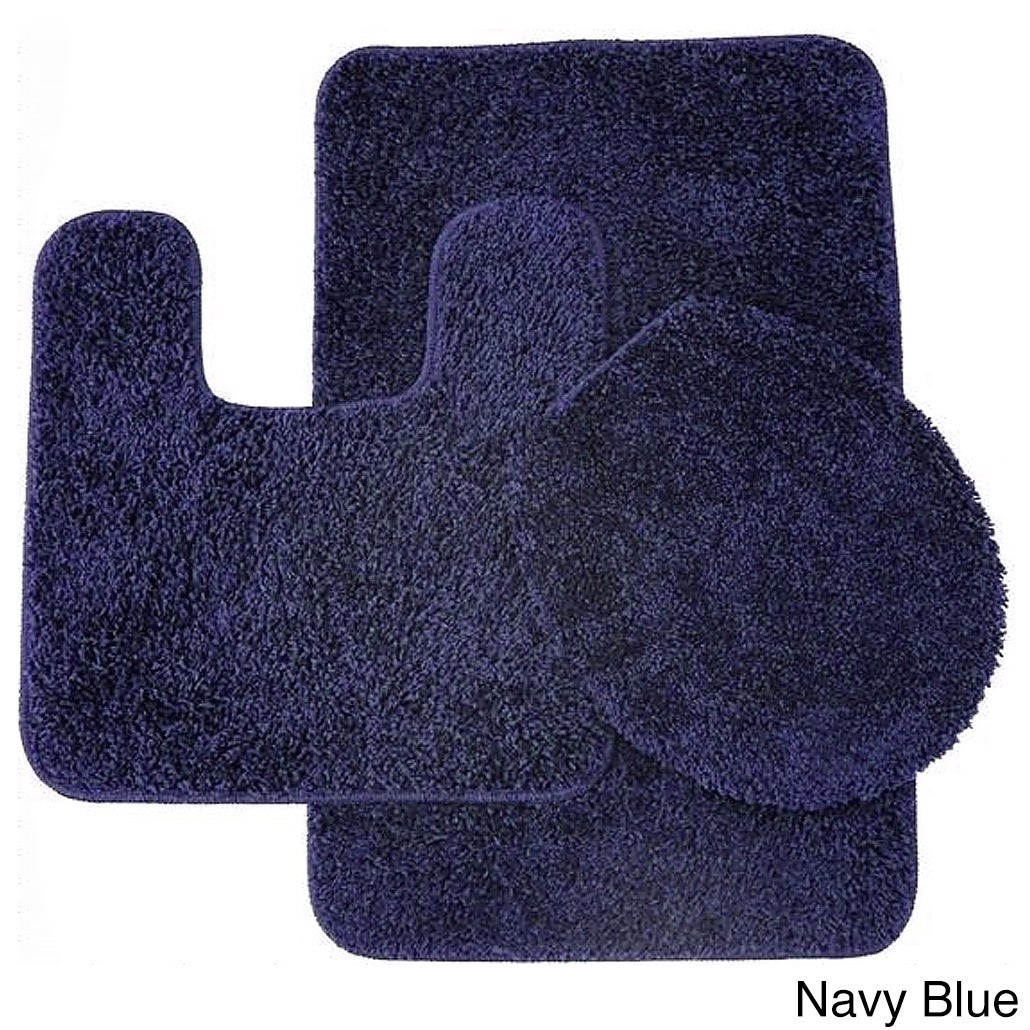 high set cover polypropylene rug lid pc pile abby bath contour burgundyc piece bathroom