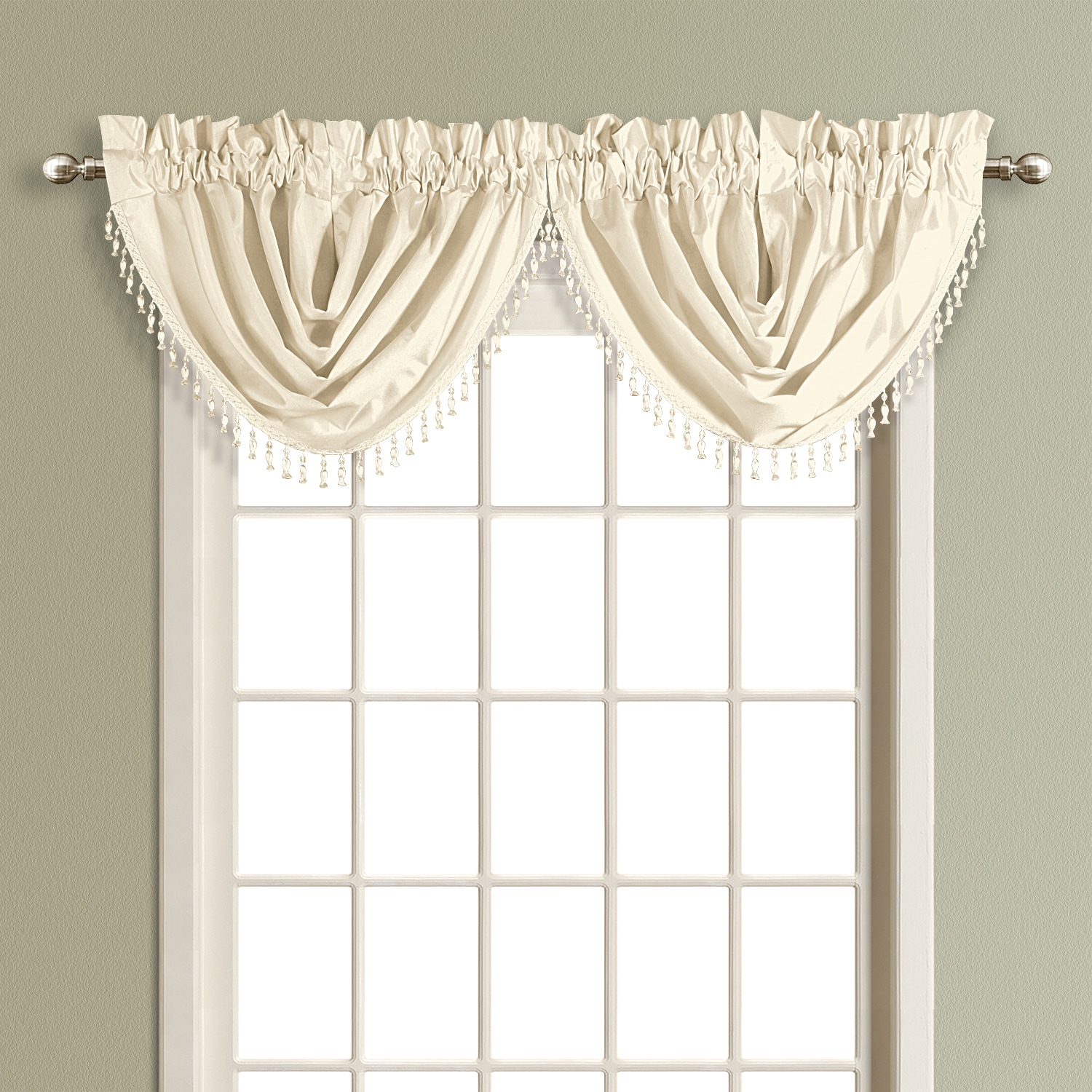 over home seasons garden overstock product waterfall elrene all to orders on polyester free valance blend hang shipping how