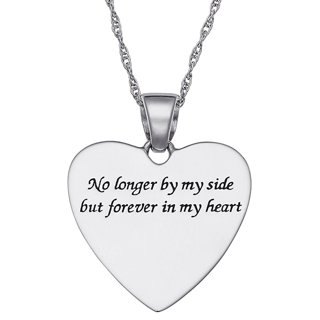 Sterling silver memorial teardrop heart pendant free shipping on sterling silver memorial teardrop heart pendant free shipping on orders over 45 overstock 18632656 aloadofball Image collections