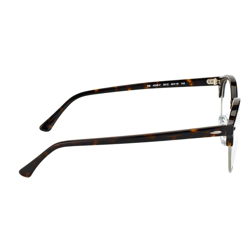8375d1424f8 Shop Ray-Ban RX 4246V 2012 Clubround Dark Havana And Silver Plastic  Clubmaster 49mm Eyeglasses - Free Shipping Today - Overstock - 11711752