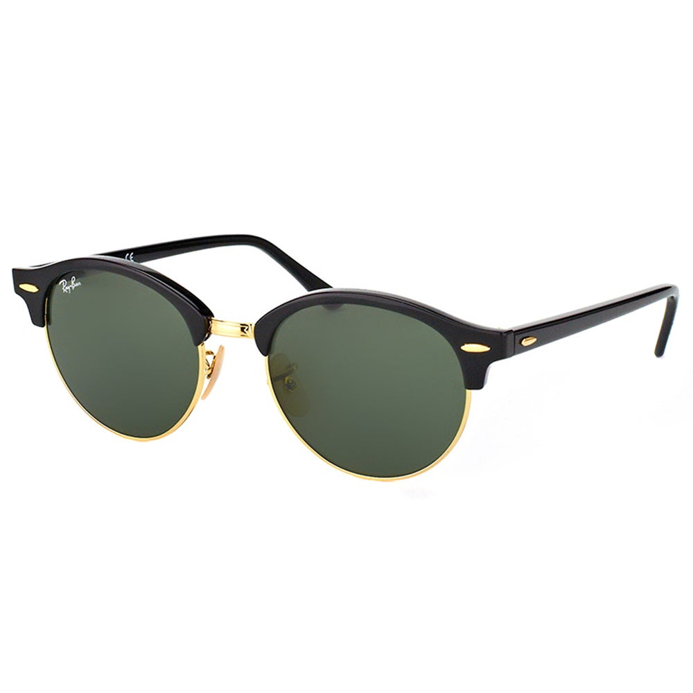 81814efa52 Shop Ray-Ban RB 4246 901 Clubround Black And Gold Plastic Clubmaster Green  Lens Sunglasses - On Sale - Free Shipping Today - Overstock - 11711763