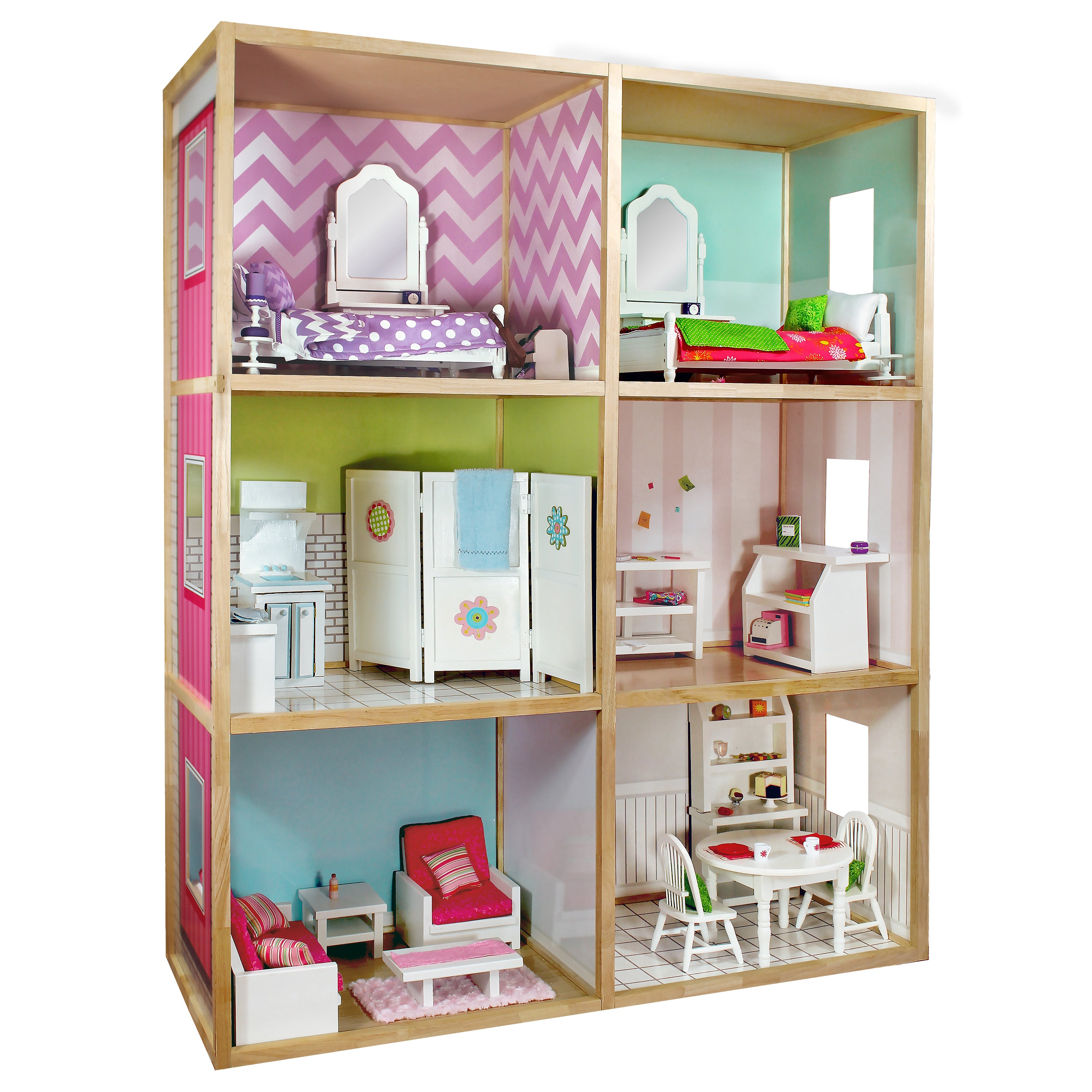 Wicked Cool Toys My S Dollhouse For 18 Dolls Modern Style