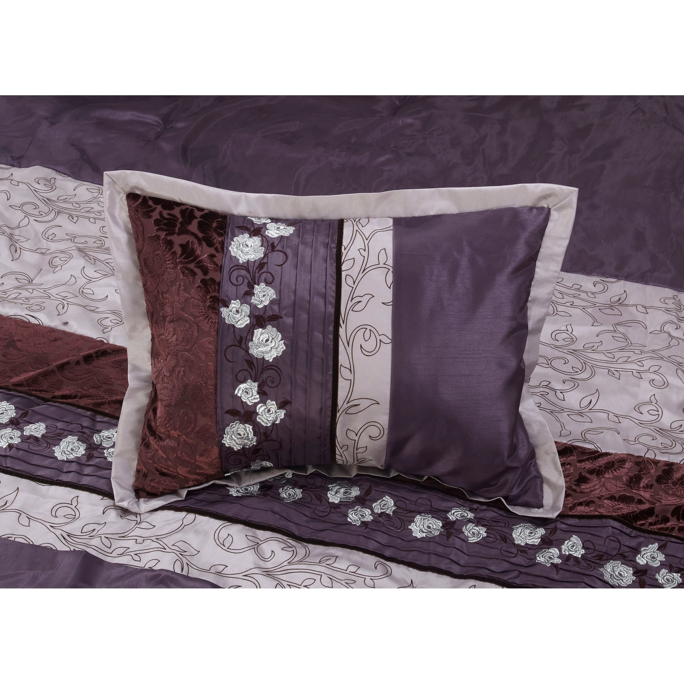 purple comforter king and with black sets go