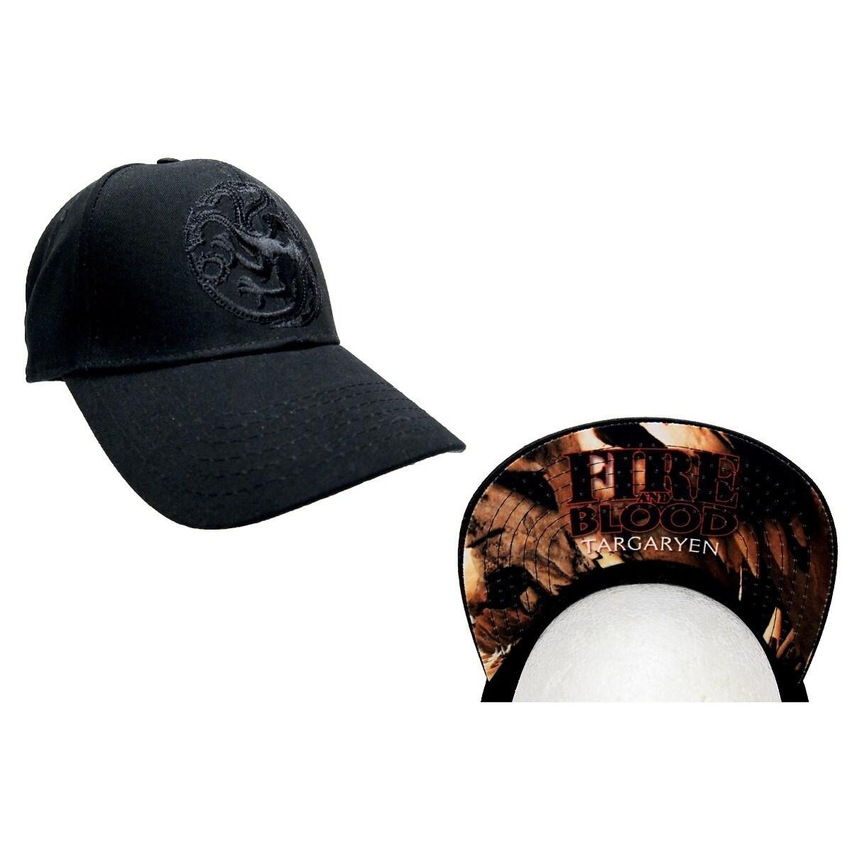 b64526b787e63 Shop Game of Thrones Black House Targaryen Baseball Hat - Free Shipping On  Orders Over  45 - Overstock - 11717407