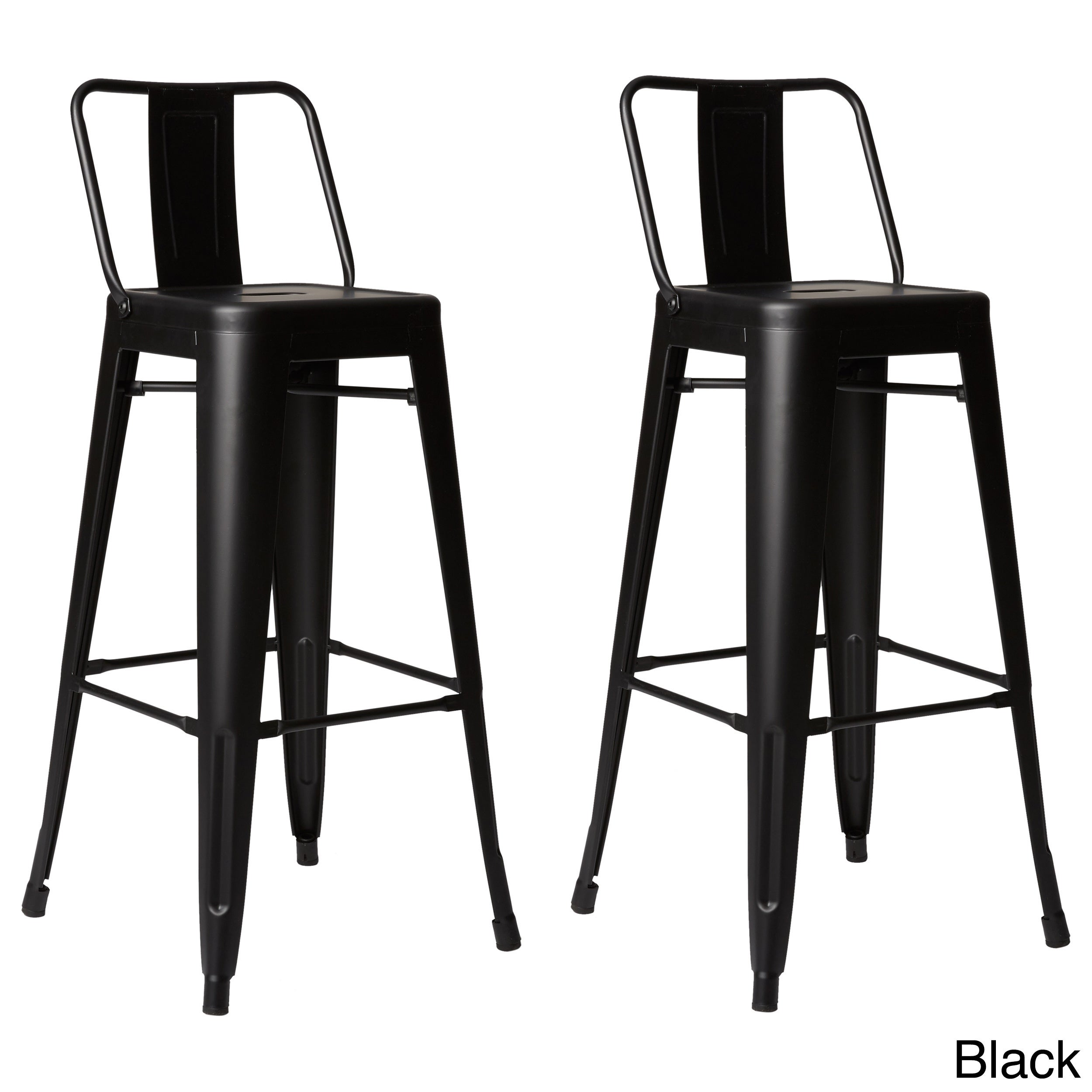 Shop Carbon Loft Coal Creek Steel 30 Inch Bar Stool In Gold Set Of