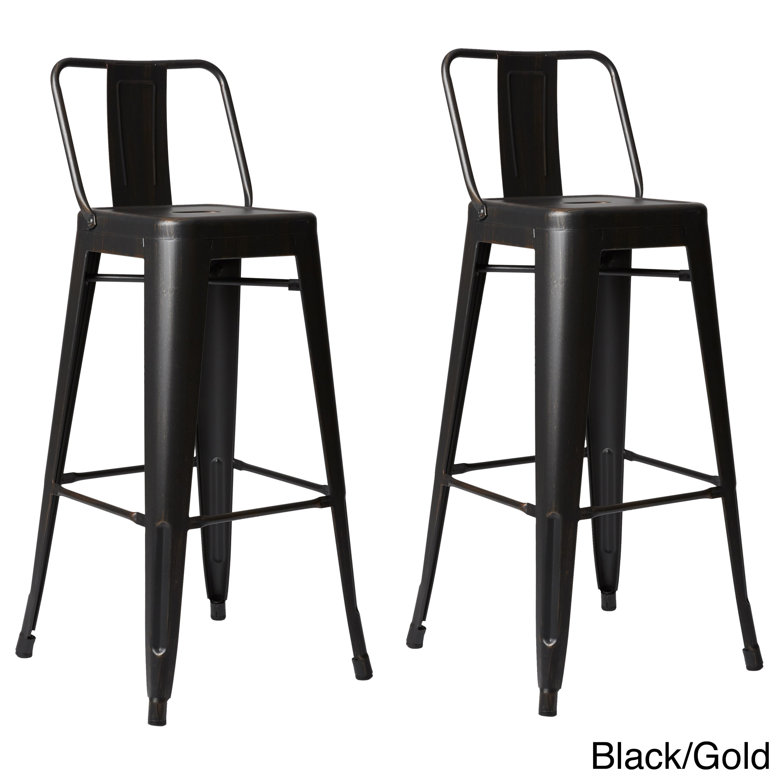 Clay Alder Home Coal Creek Steel 30 Inch Bar Stool (Set Of 2)   Free  Shipping Today   Overstock.com   18638832
