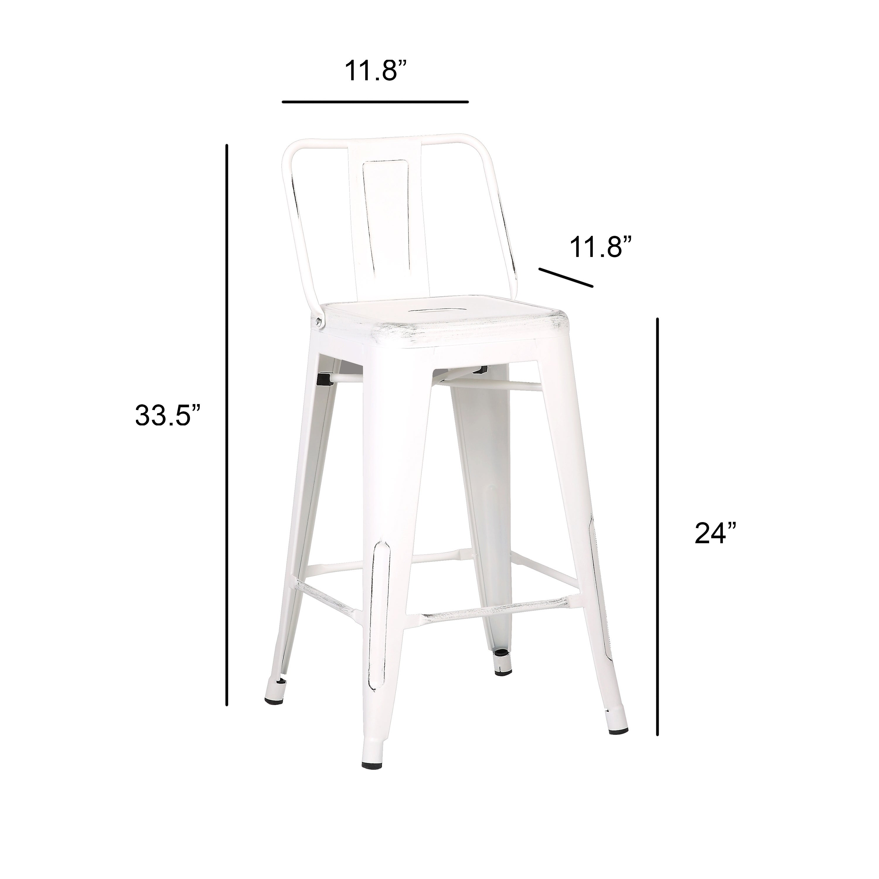 Steel 24 Inch Bar Stools Set Of 2 On Free Shipping Today 11718074