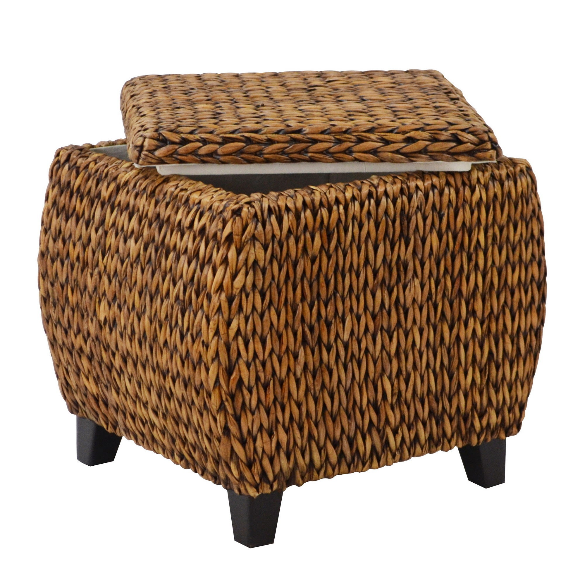 Shop Havenside Home Eastport Round Storage Ottoman   Free Shipping Today    Overstock.com   20931380
