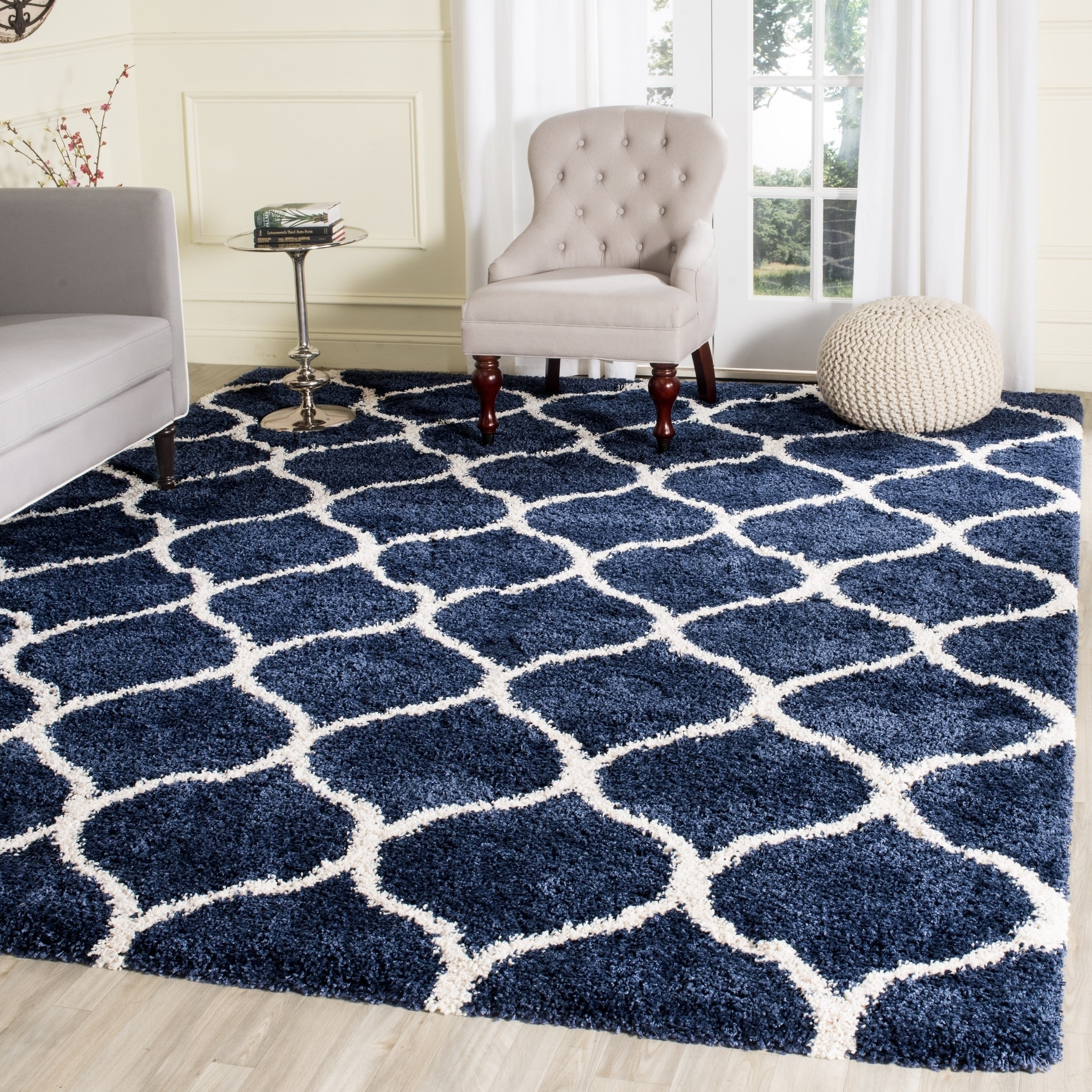 Safavieh Hudson Modern Ogee Navy Ivory Large Area Rug 11 X 15 On Free Shipping Today 11721641