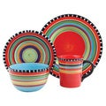 Gibson Pueblo Springs 16-Piece Dinnerware Set