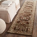Safavieh Hand-hooked Total Perform Brown/ Green Acrylic Rug (2' 3 x 9')