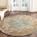 Safavieh Hand-hooked Total Perform Sage/ Copper Acrylic Rug (8' Round)