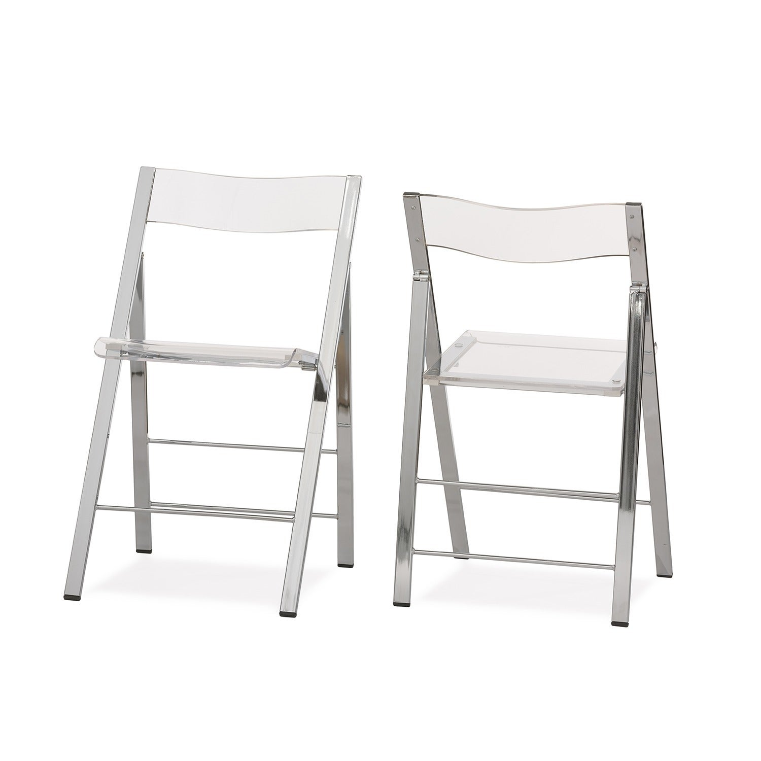 Acrylic Folding Chairs Set of 2 Free Shipping Today