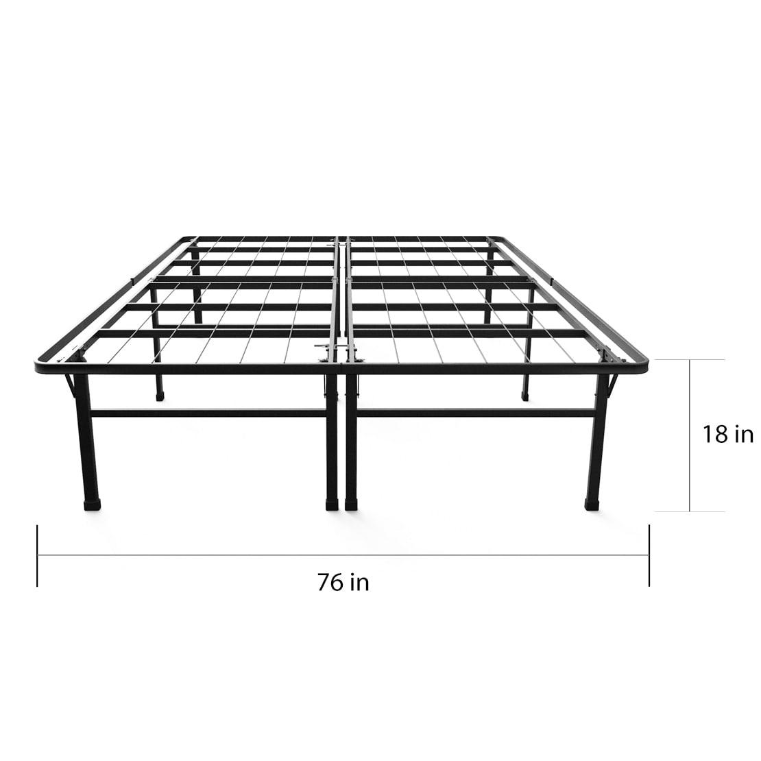 Shop Priage 18-inch High Profile SmartBase Black Platform Bed Frame ...