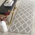 Safavieh Hand-Woven Montauk Grey/ Ivory Cotton Rug (2' 3 x 11')