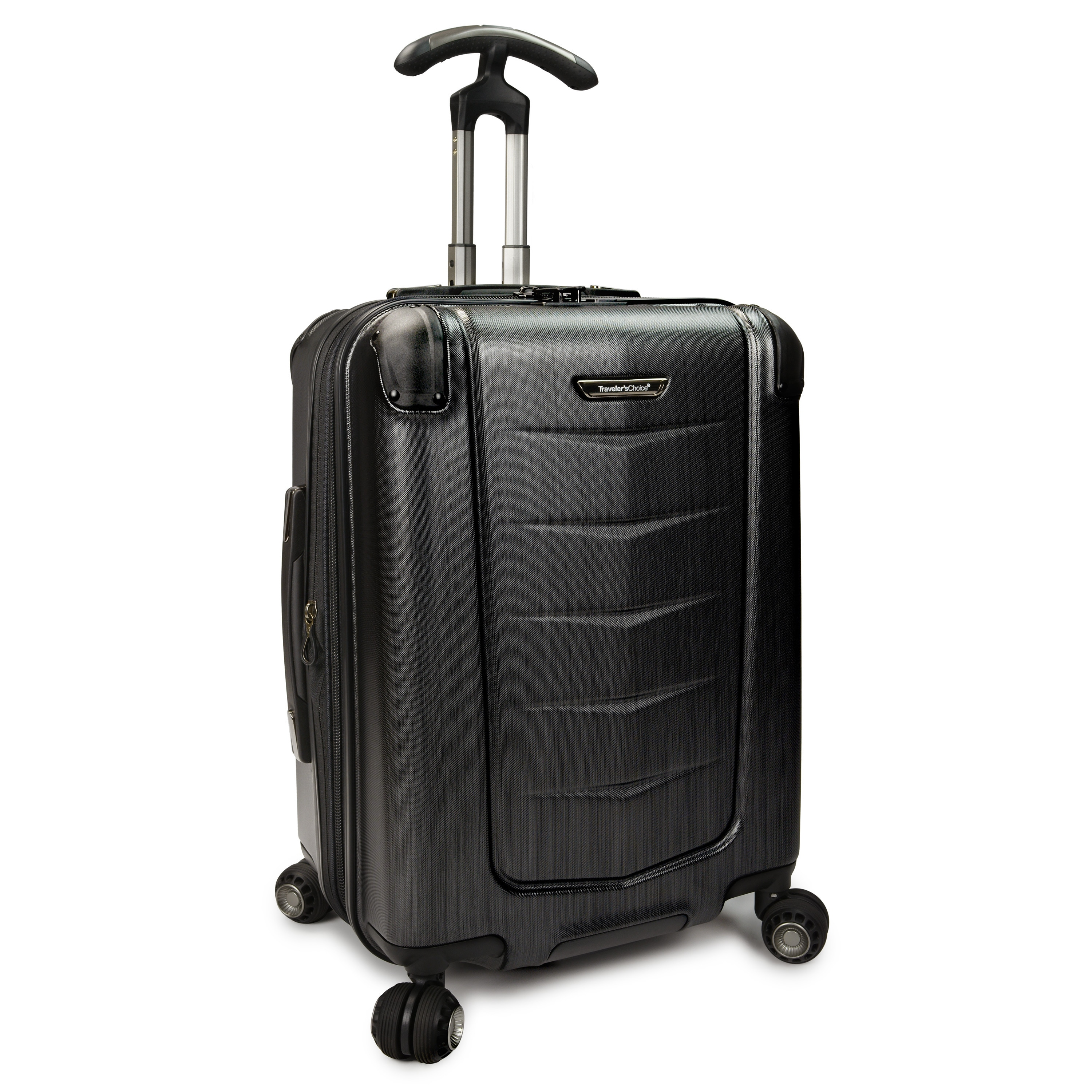 cdb15c534701 Traveler's Choice Silverwood 21-inch Polycarbonate Hardside Carry On  Spinner Suitcase