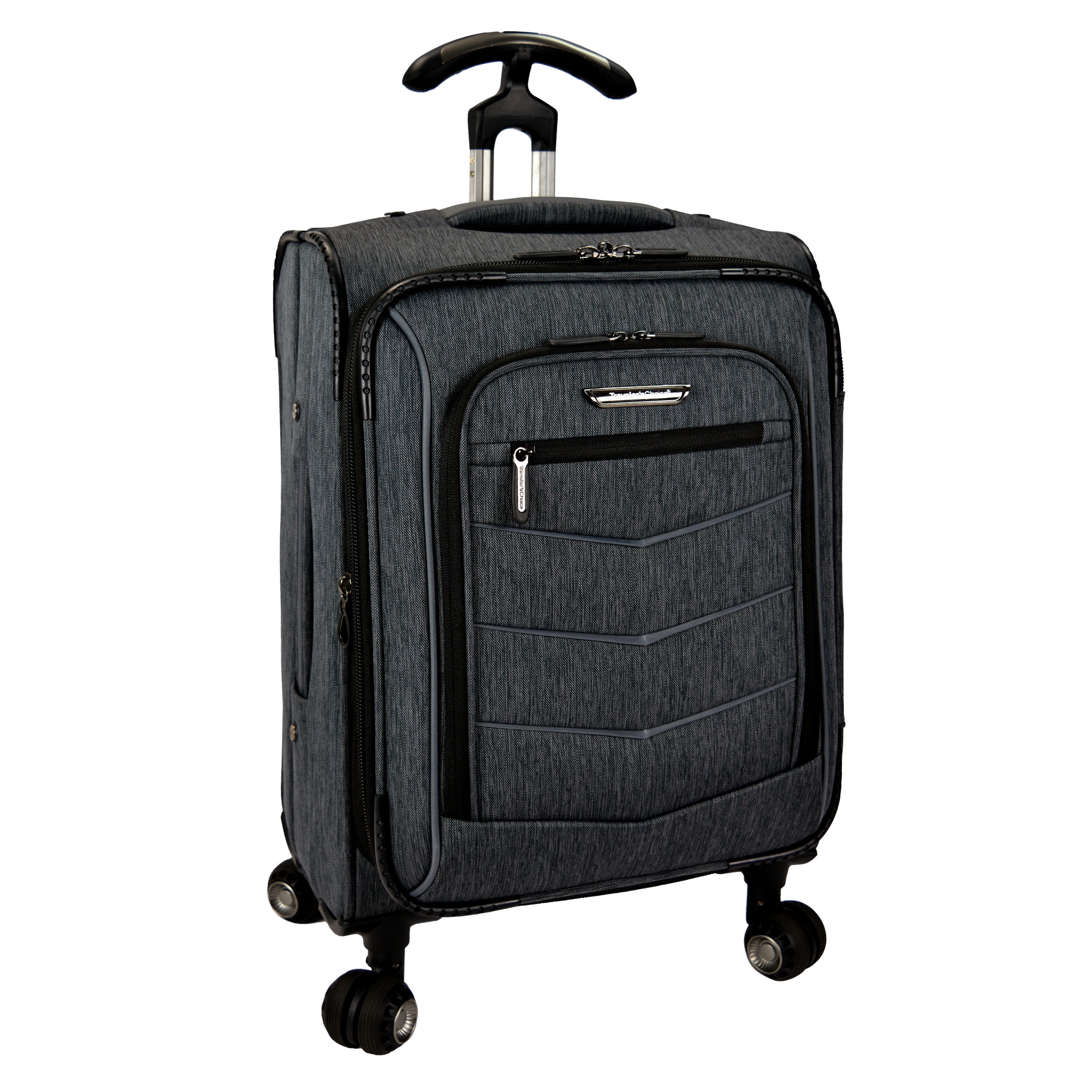 Travelers Choice Silverwood 21 Inch Expandable Carry On Spinner Upright Suitcase Free Shipping Today 11729287