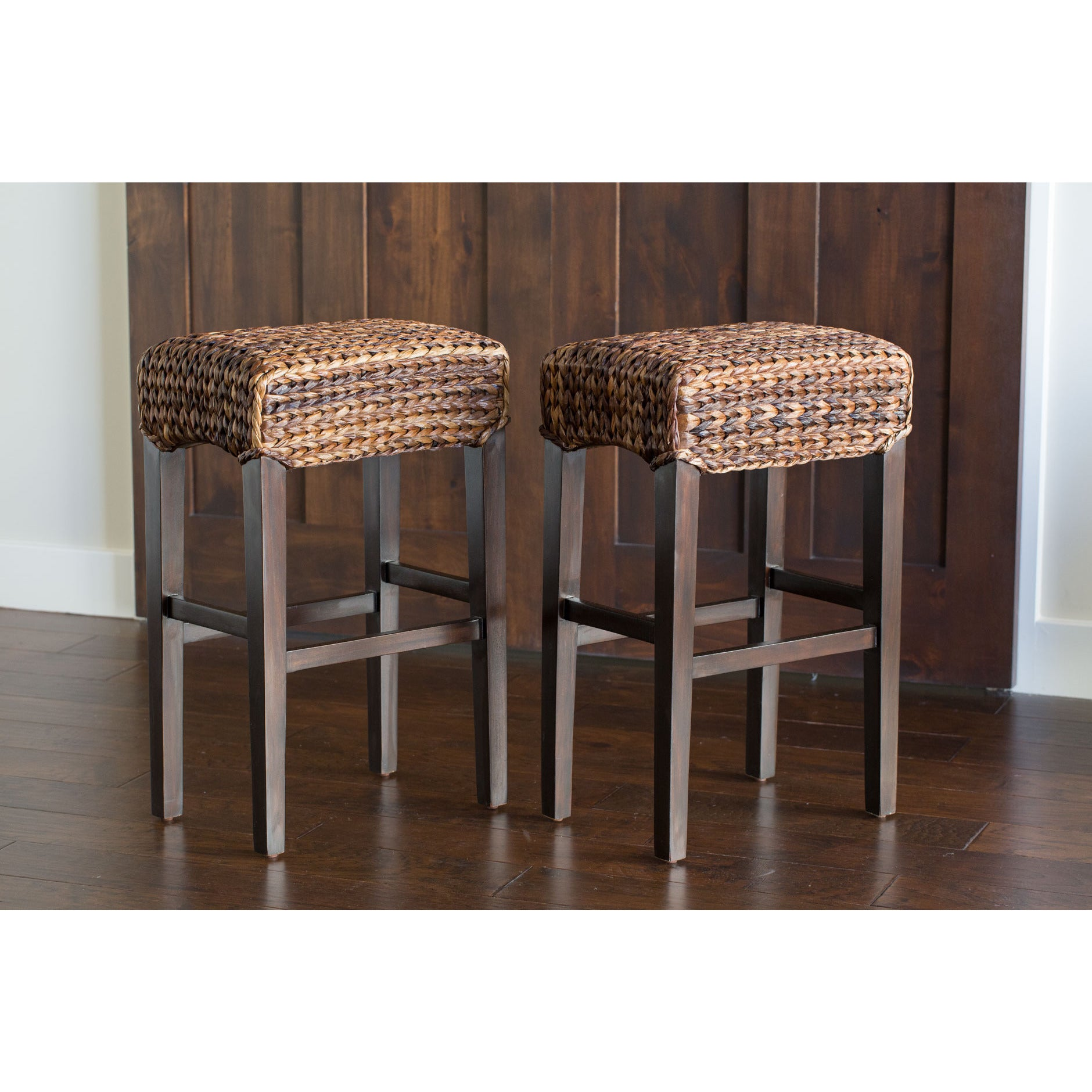 Birdrock Home Seagr Backless Barstools Set Of 2 Free Shipping Today 11735692