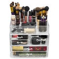 Large Acrylic Drawers with 15-section Makeup Organizer