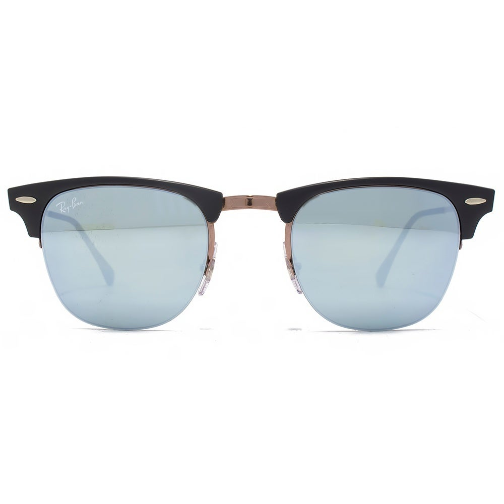 dddb7497f13 Shop Ray-Ban Clubmaster Light Ray RB8056 176 30 Unisex Black Brown Frame  Green Mirror Lens Sunglasses - Ships To Canada - Overstock.ca - 11736153