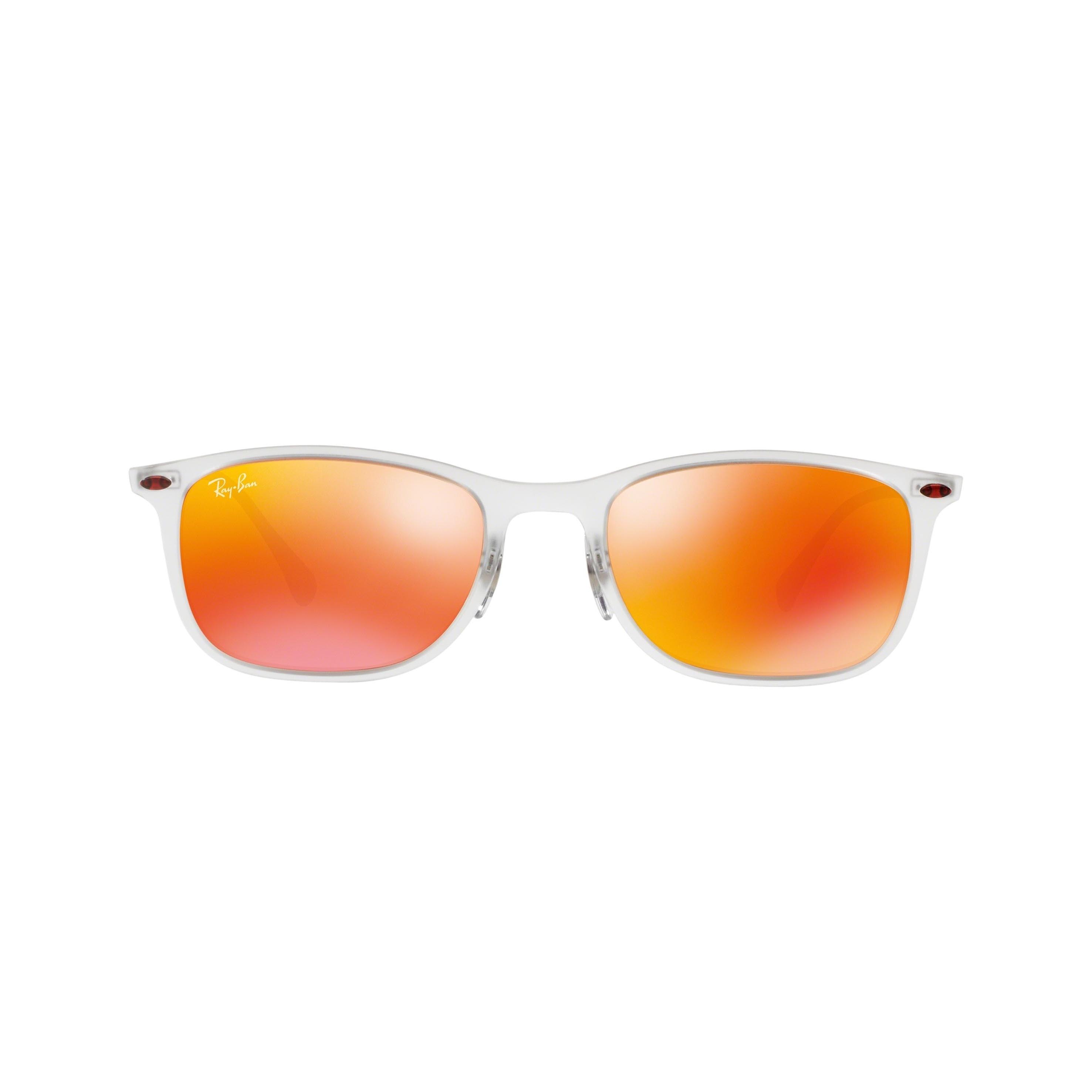 b7910dce3e6e3 Shop Ray-Ban New Wayfarer Light Ray RB4225 646 6Q Unisex Transparent Gunmetal  Frame Red Mirror Lenses Sunglasses - Free Shipping Today - Overstock - ...