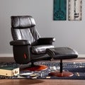 Harper Blvd Stanley Black Swivel Glide Rocking Recliner