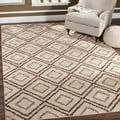 Safavieh Tunisia Cream/ Brown Rug (9' x 12')