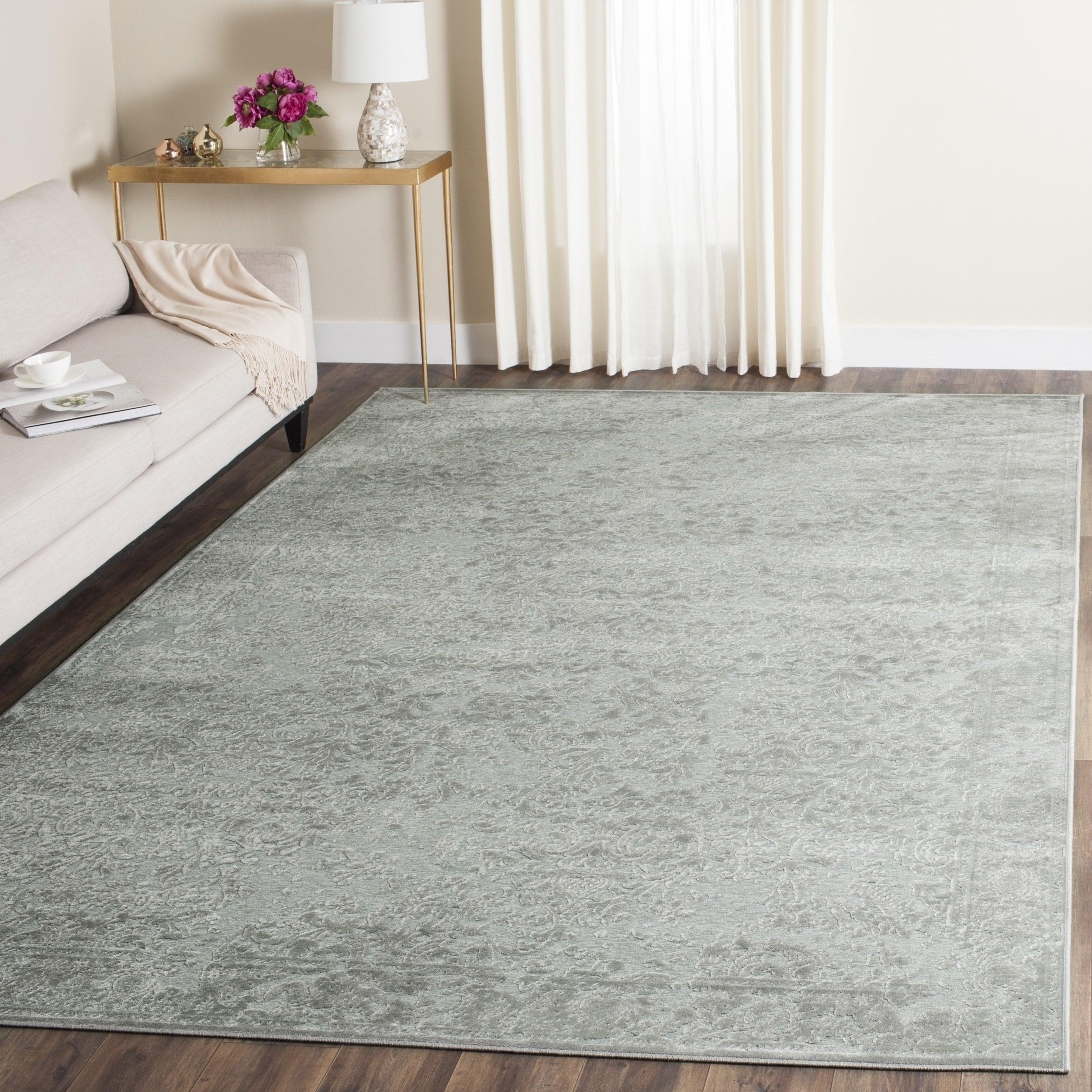 Safavieh paradise light grey spruce viscose rug 8 x 112