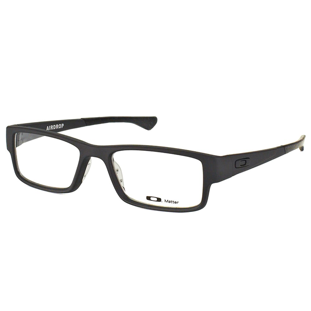 ffe4262c18 Oakley Airdrop OX8046-0153 Satin Black Plastic Rectangle 53mm Eyeglasses