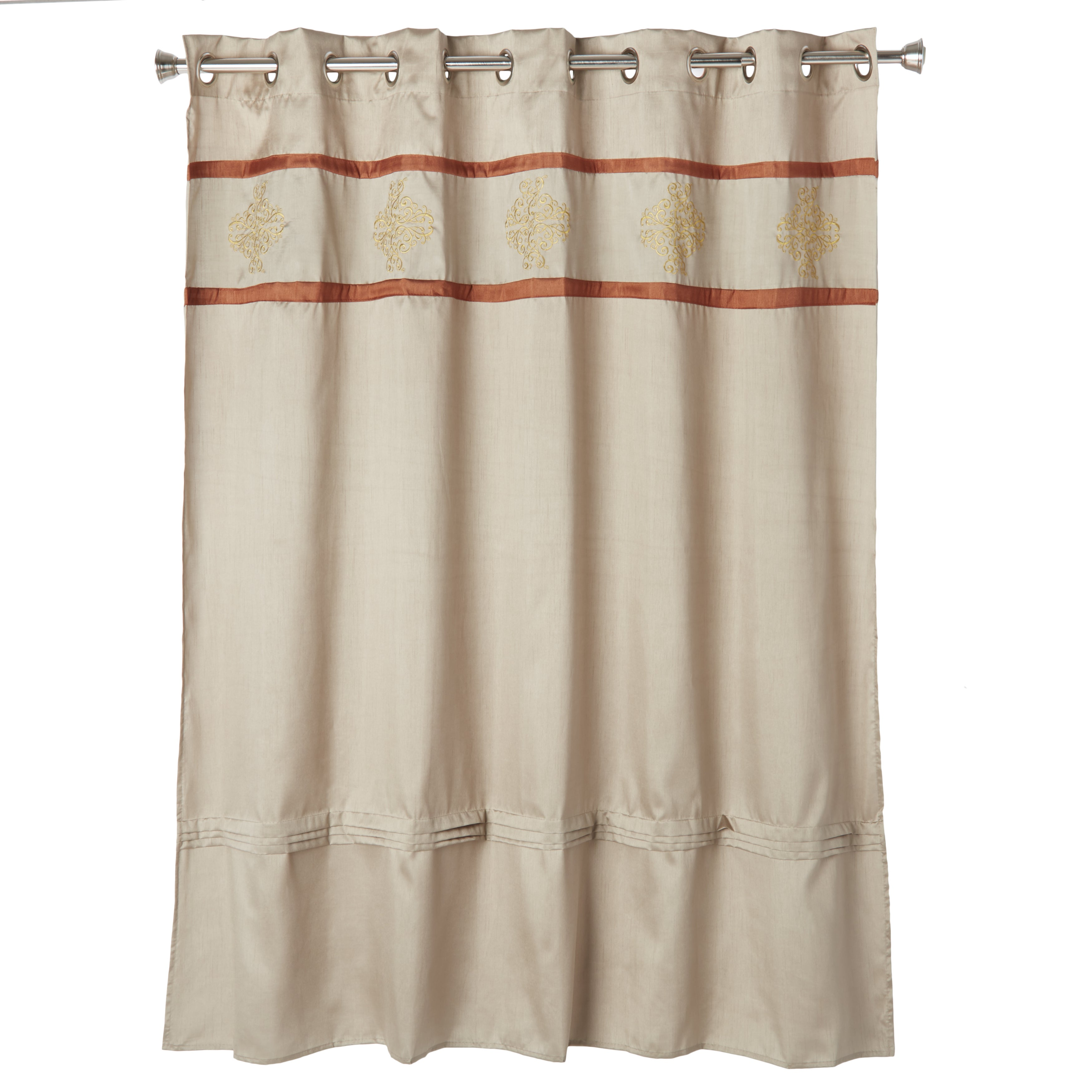 Shop Windsor Home Radcliff Embroidered Shower Curtain With Grommets