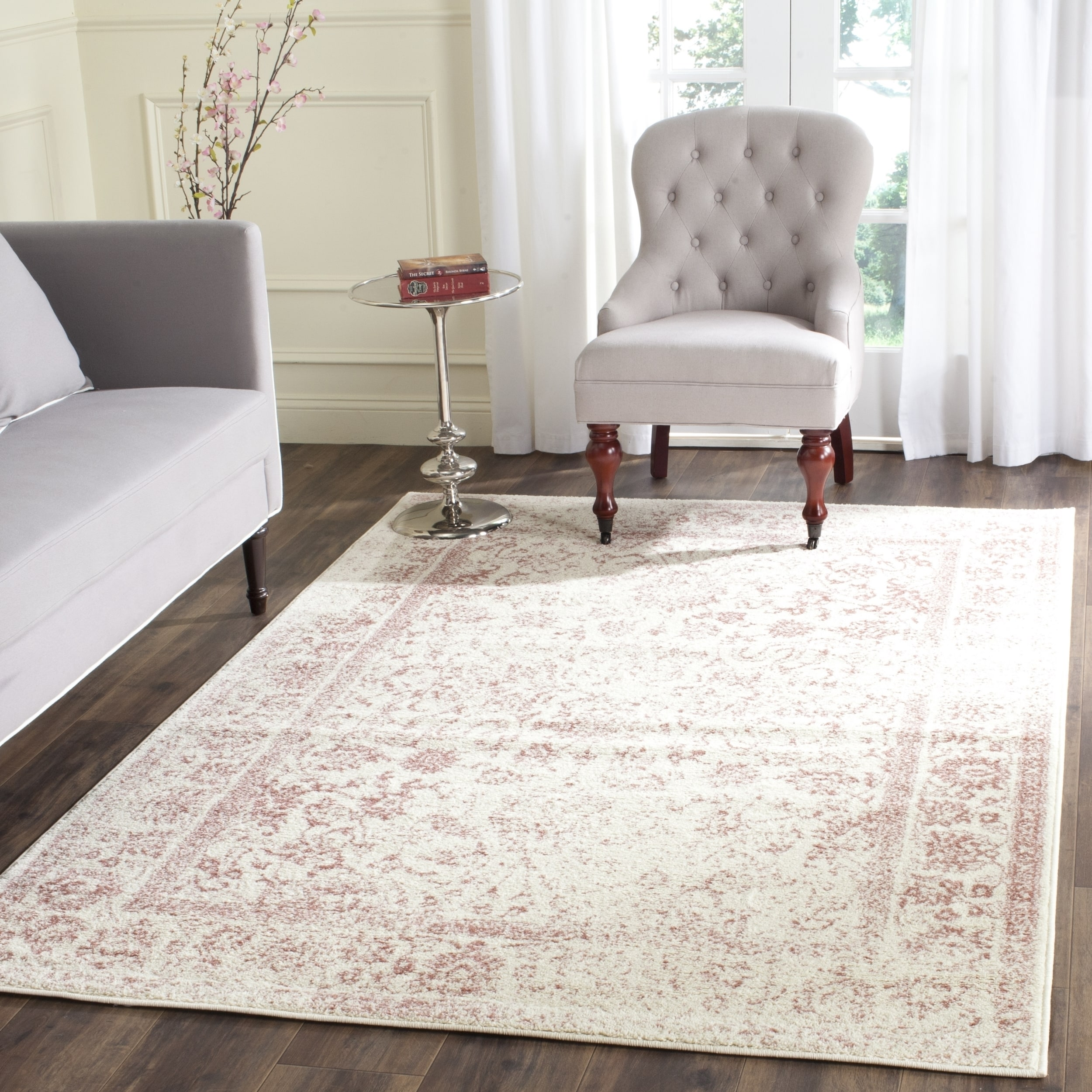 Safavieh Adirondack Vintage Distressed Ivory Rose Rug 9 X 12 On Free Shipping Today Com 11742595