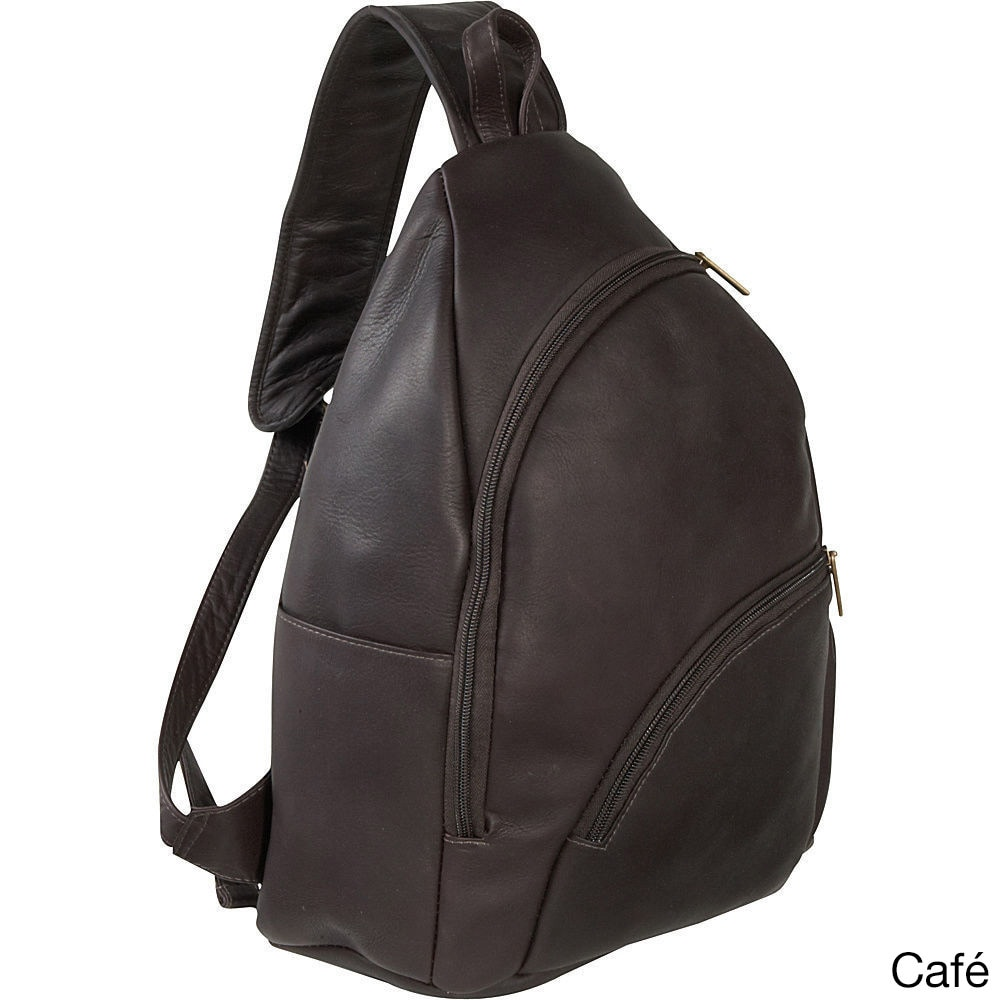 64744e08aa Shop LeDonne Leather Unisex Leather Unisex Sling Backpack in Brown ...