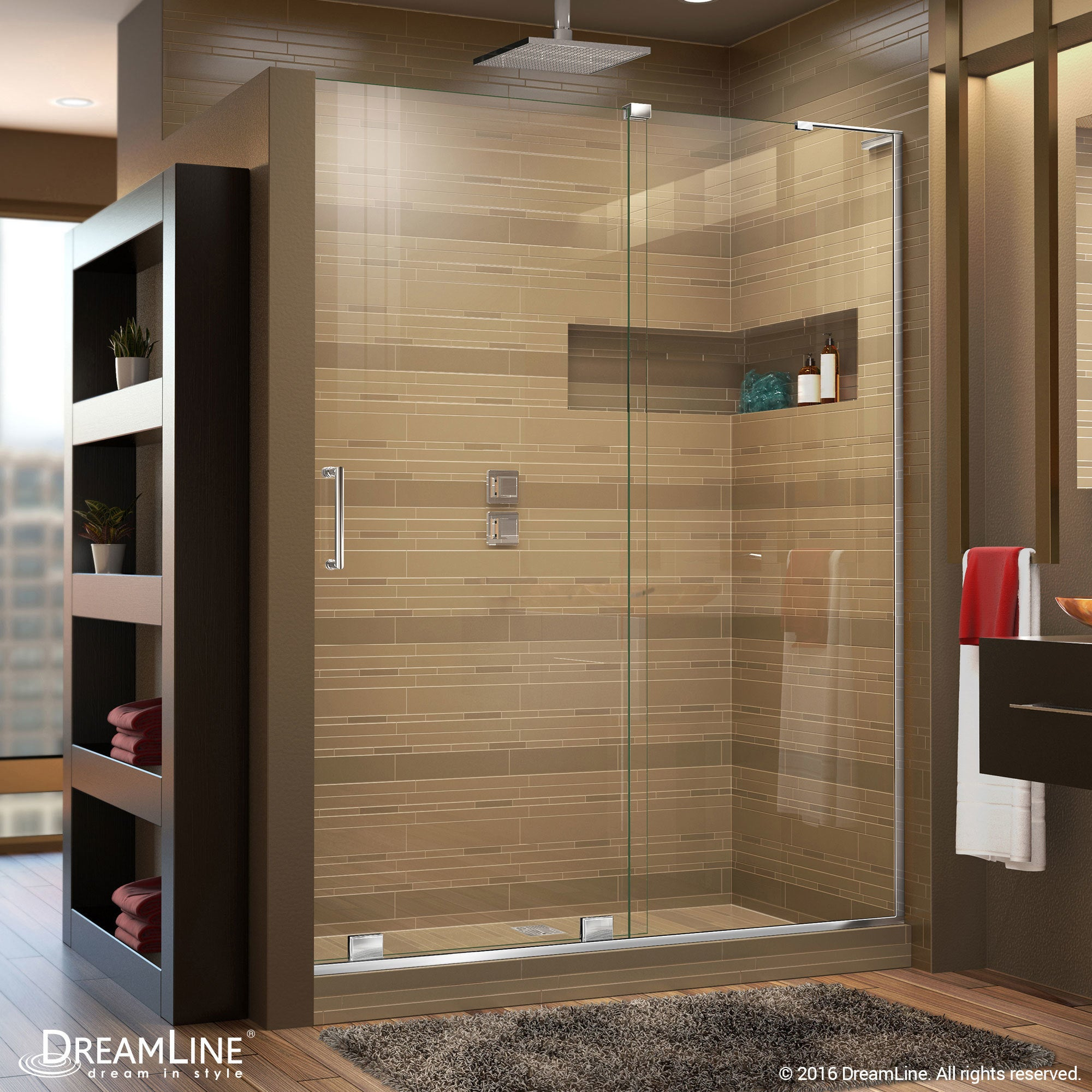 Shop DreamLine Mirage-X 44 - 48 in. W x 72 in. H Sliding Shower Door ...
