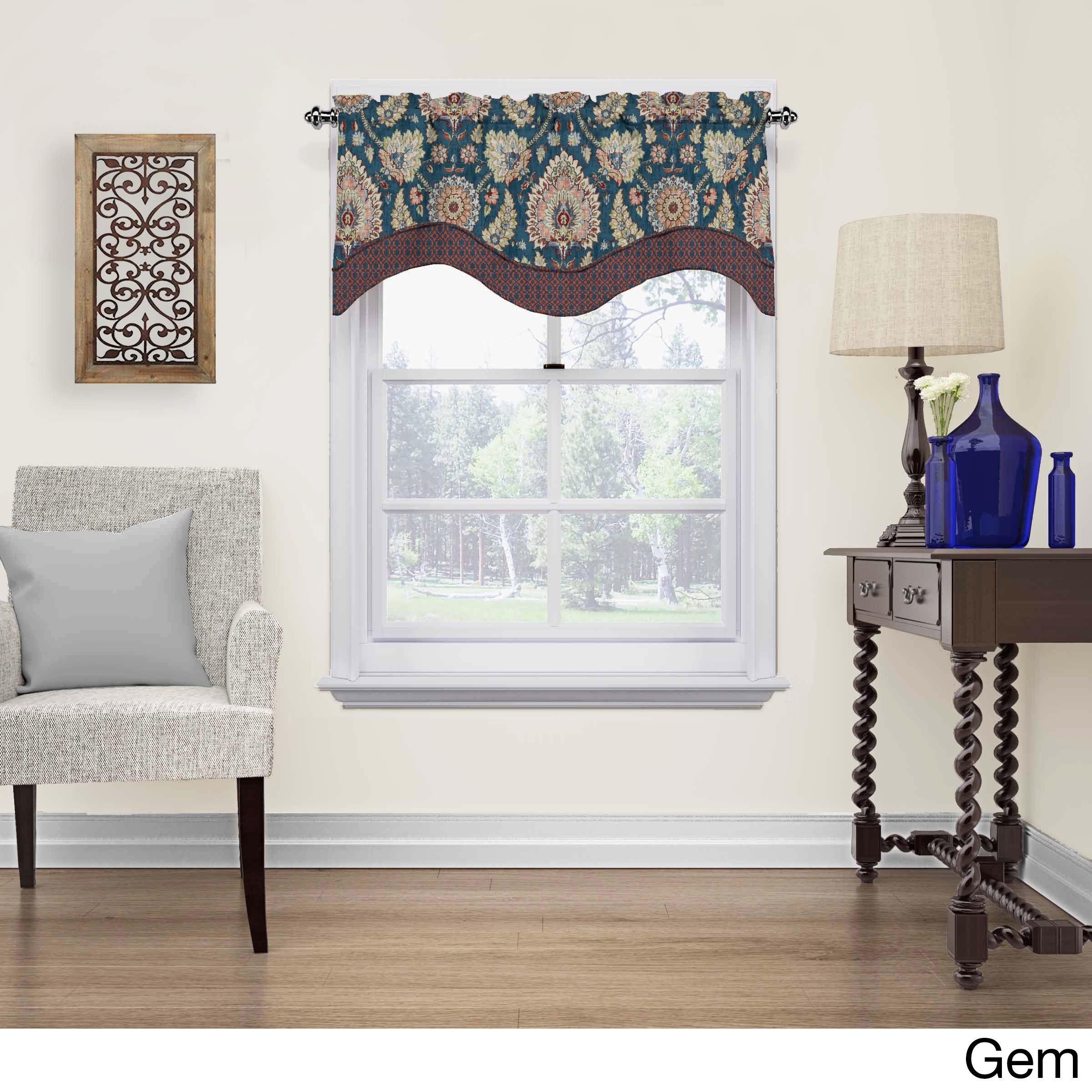 Waverly Clifton Hall Cotton Scalloped Window Valance - Free Shipping ...
