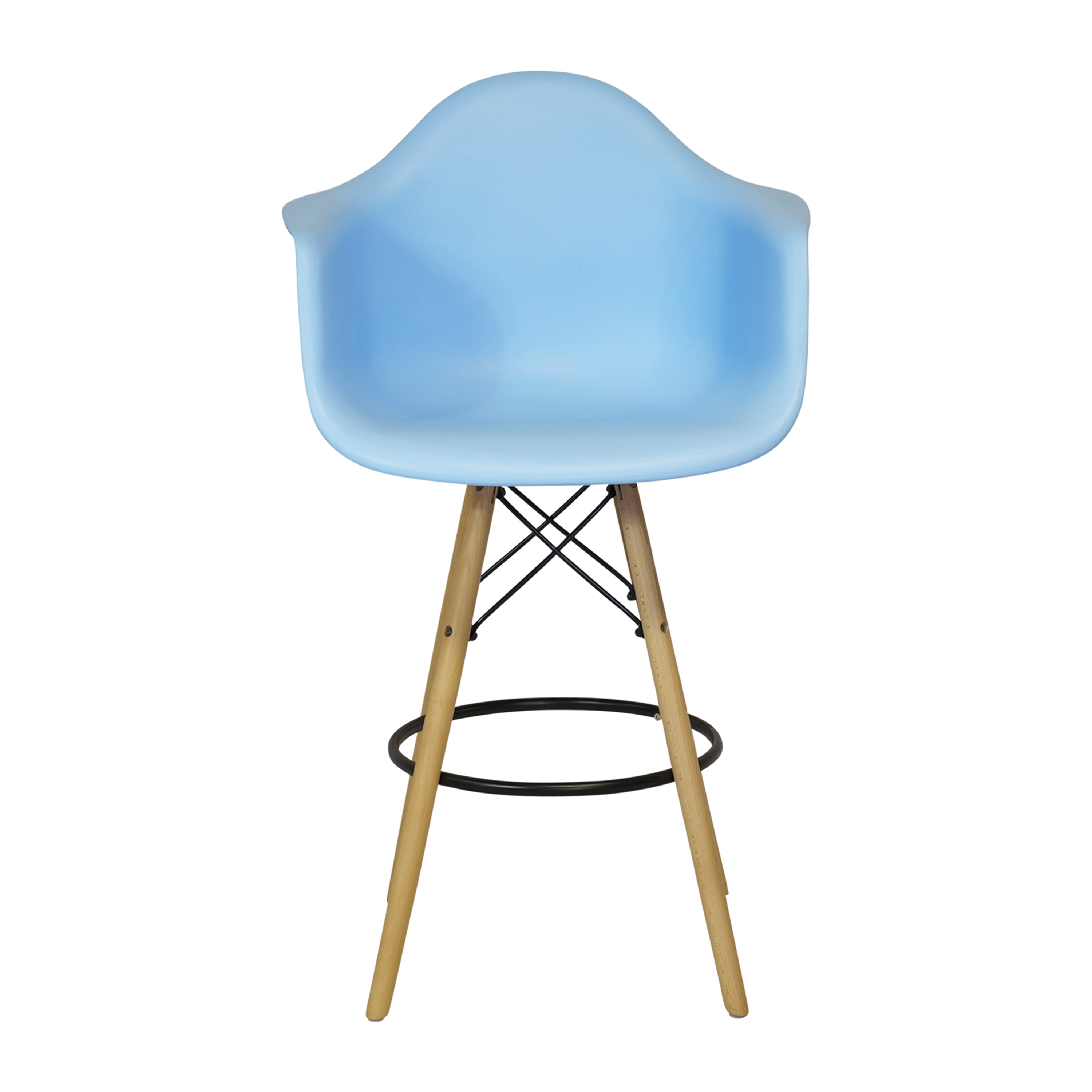 Shop Mid Century Modern Molded Plastic 26 Inch Armchair/ Counter Stool    Free Shipping Today   Overstock.com   11750051