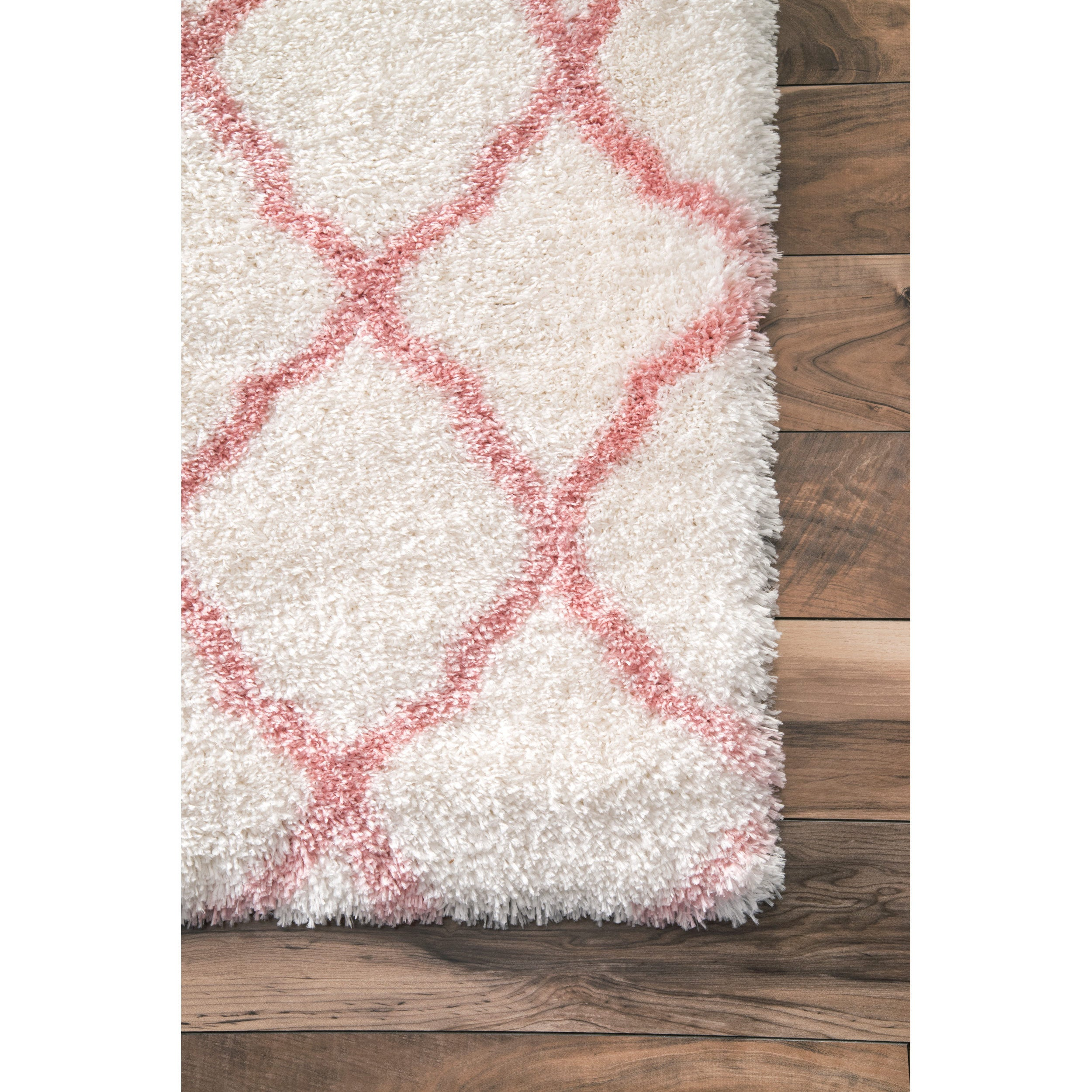 product for home and cloudy today pink shag soft rugs garden plush round baby rug shipping nuloom overstock nursery free kids trellis