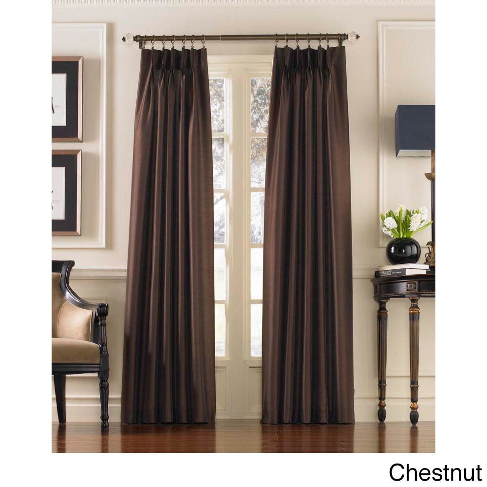 Marquee Faux Silk Pinch Pleat Curtain Panel Free Shipping On Orders Over 45 11762692