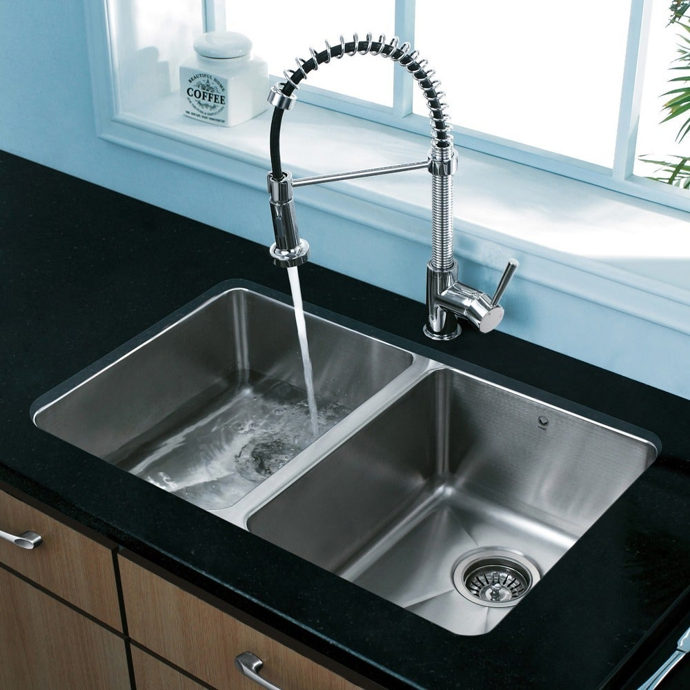 Shop VIGO Chrome Pull-Out Spray Swivel Kitchen Faucet (As Is Item ...