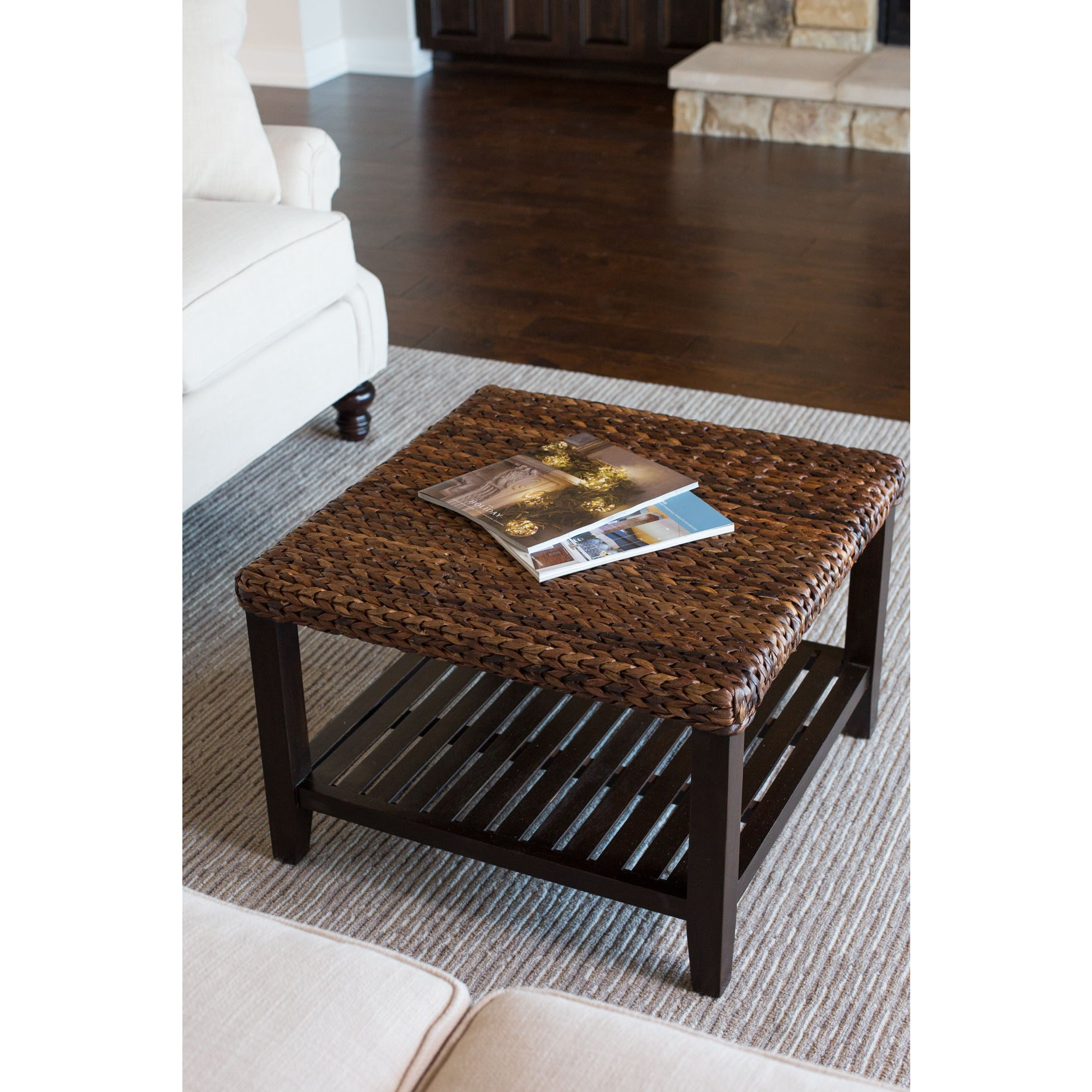 Birdrock Home Seagrass Coffee Table Free Shipping Today