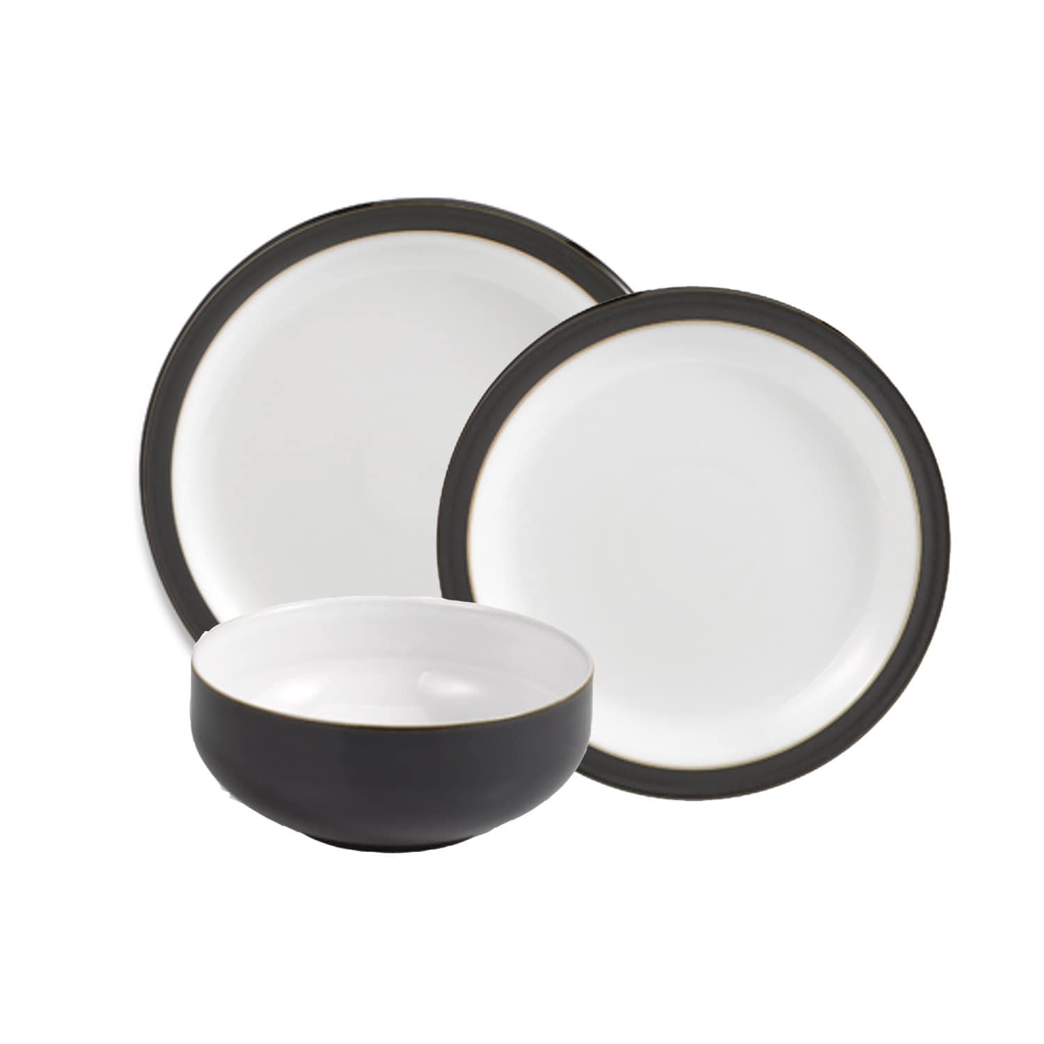 Denby Jet Black 12-piece Dinnerware Set - Free Shipping Today - Overstock - 18678251  sc 1 st  Overstock.com & Denby Jet Black 12-piece Dinnerware Set - Free Shipping Today ...