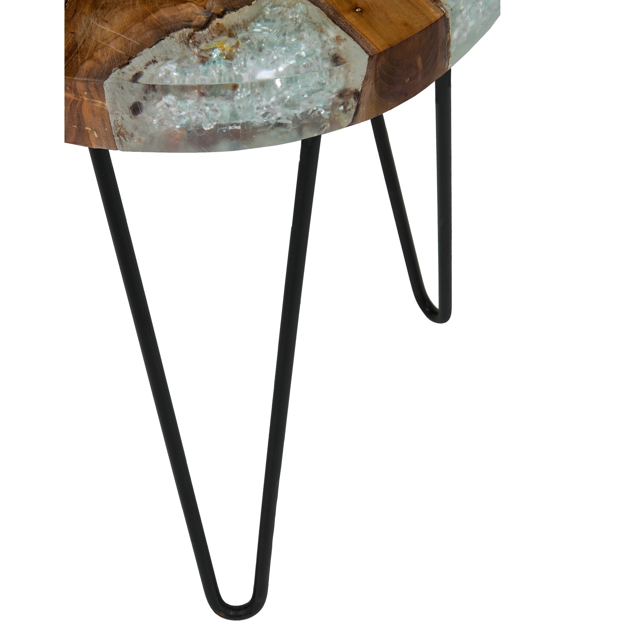 Shop East At Mainu0027s Kakalina Side Table Small In Icy Wood With Iron Legs    Free Shipping Today   Overstock.com   11768027