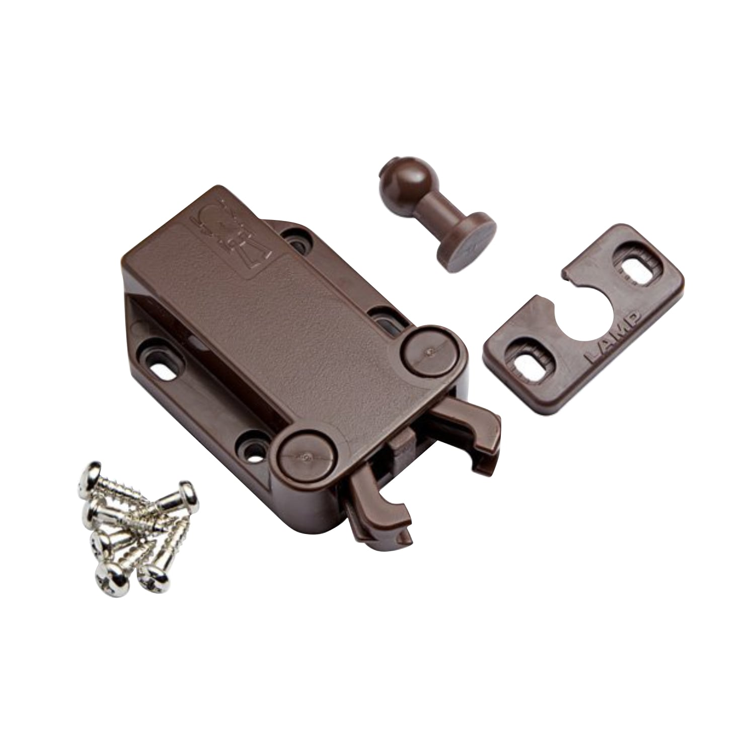 Shop Sugatsune LAMP Non Magnetic Touch Latch Safe Push Latch Brown   Free  Shipping On Orders Over $45   Overstock.com   11768773