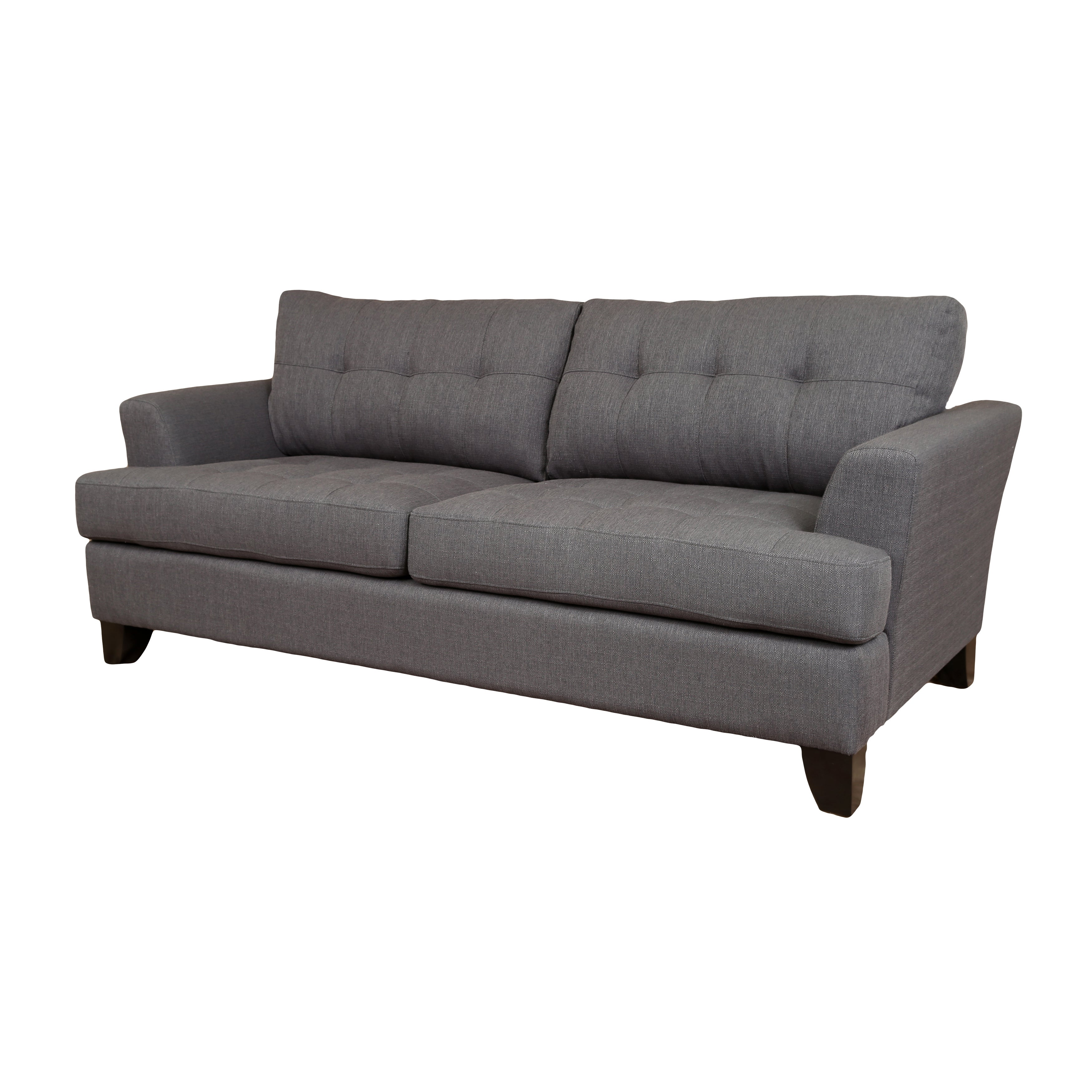 Porter Norwich Contemporary Charcoal Grey Polyester Sofa with Matching  Throw Pillows - 36\