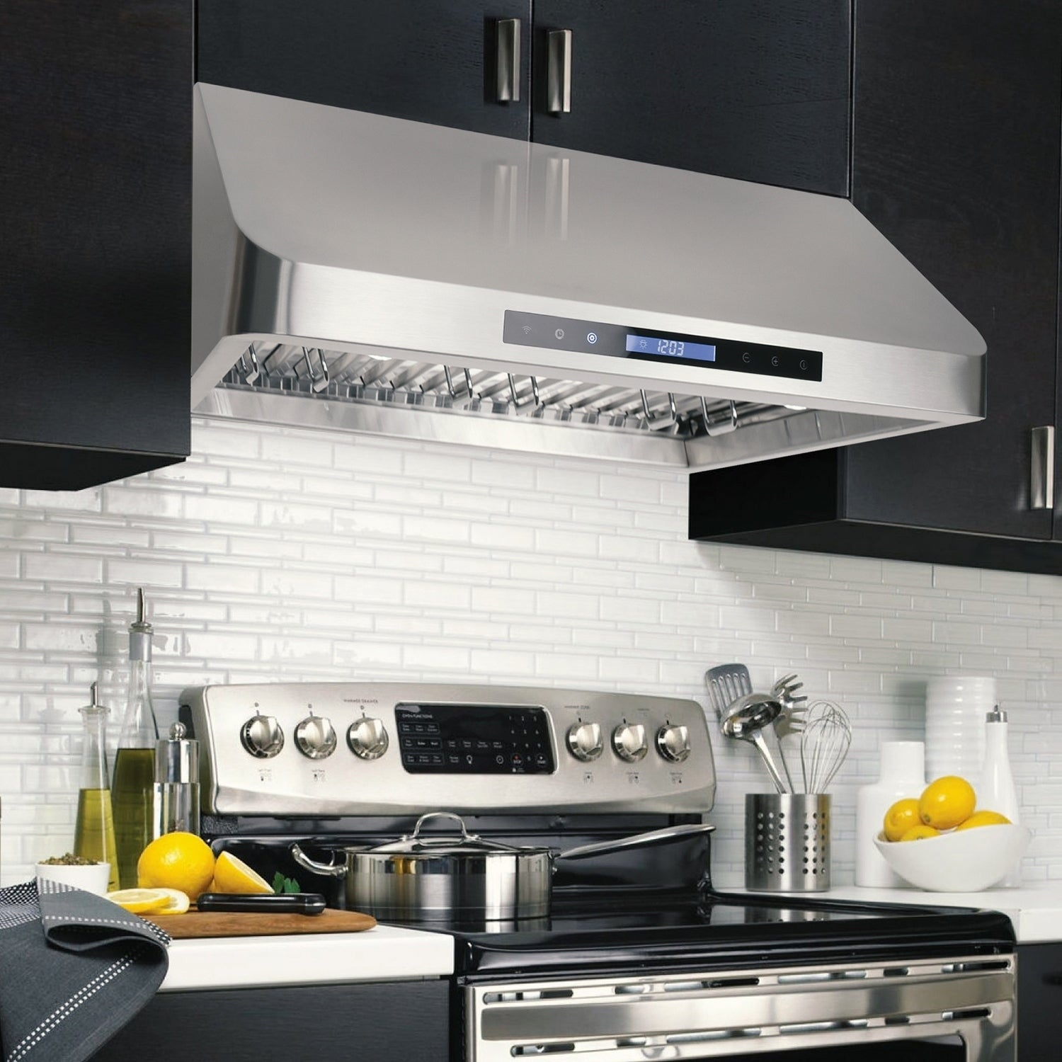 Cosmo 30-inch Range Hood 900 CFM Ducted Under Cabinet Stainless ...