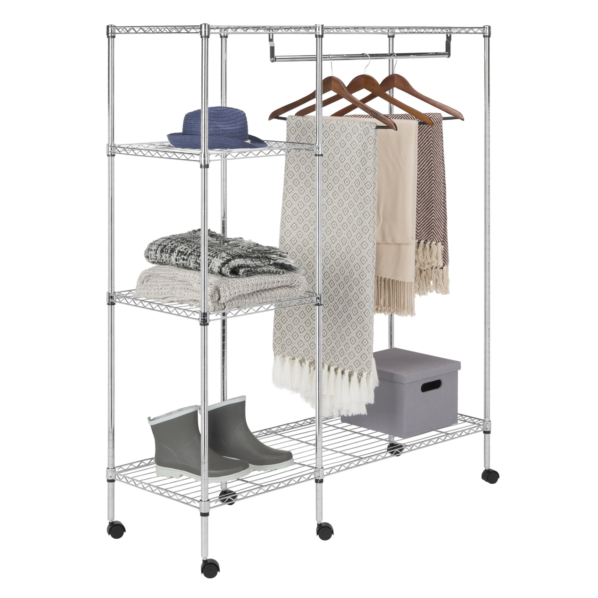 Shop Safavieh Storage Collection Betsy Chrome Wire Adjustable ...