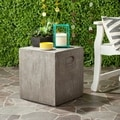 Safavieh Cube Concrete Accent Table (Dark Grey)