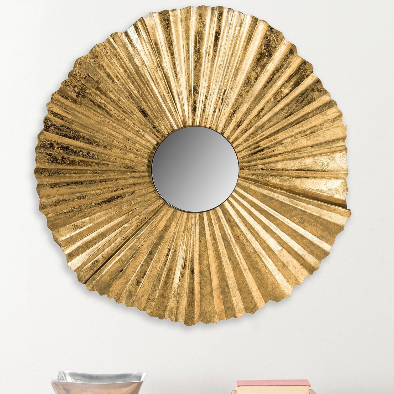 Safavieh Mae Fan Gold 35-inch Sunburst Mirror - Free Shipping Today ...
