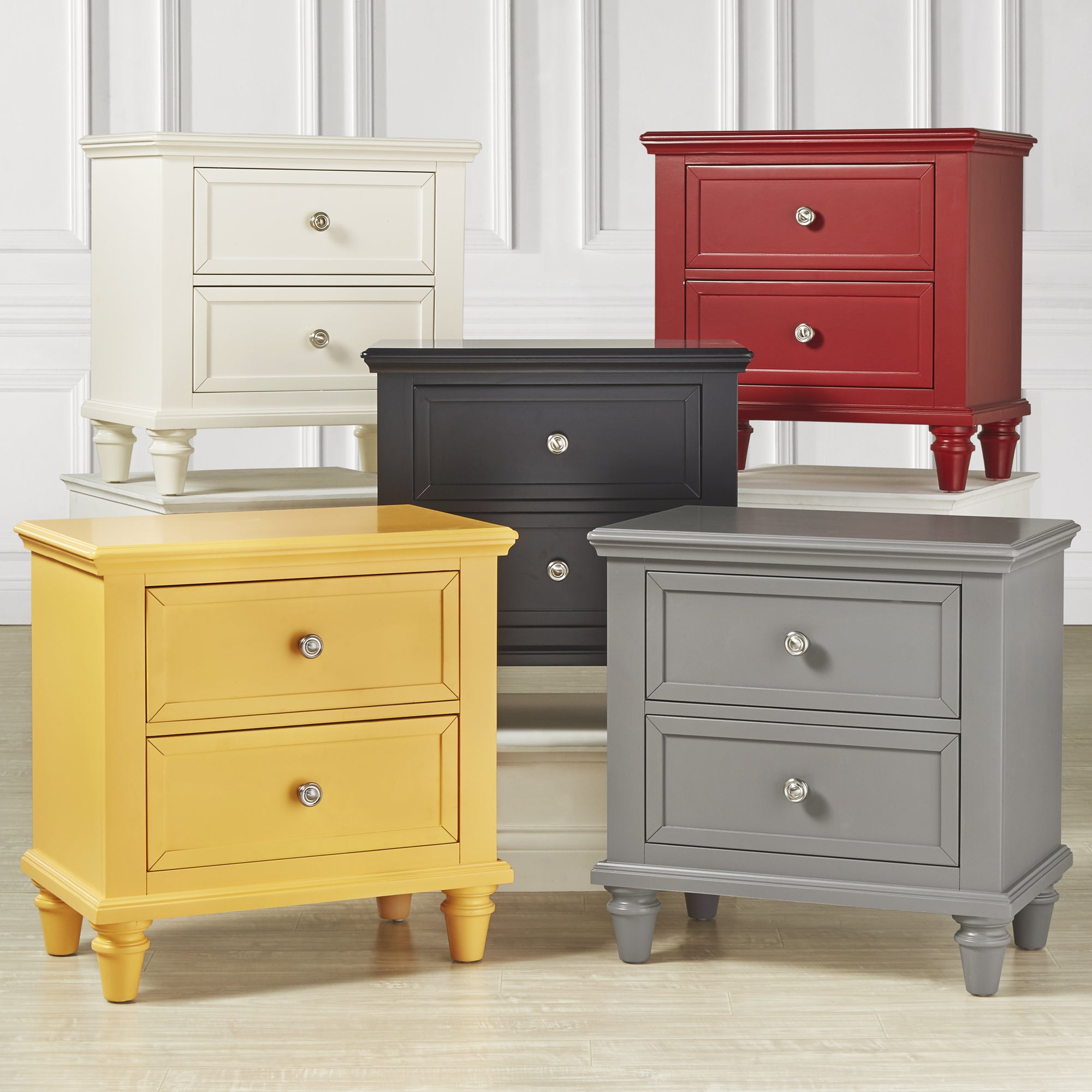 Preston 2 Drawer Side Table Nightstand By Inspire Q Junior On Free Shipping Today 11775920