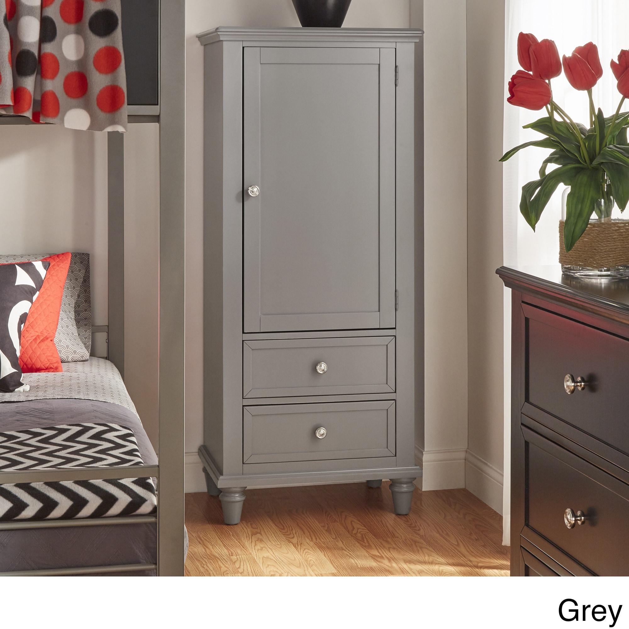 Preston Wooden Wardrobe Storage Armoire by iNSPIRE Q Junior - Free Shipping  Today - Overstock.com - 18687883