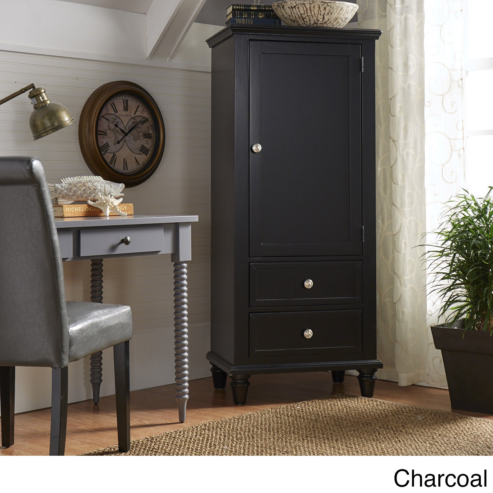 Great Preston Wooden Wardrobe Storage Armoire By INSPIRE Q Junior   Free Shipping  Today   Overstock.com   18687883